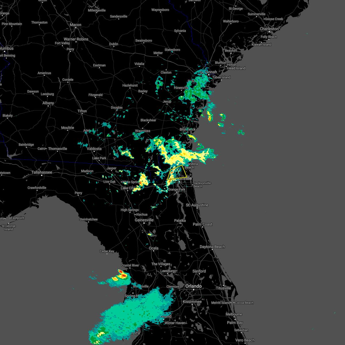 Radar Image for Severe Thunderstorms near Jacksonville, FL at 12/20/2020 5:08 PM EST