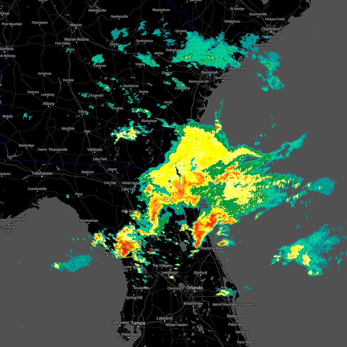 Radar Image for Severe Thunderstorms near Williston, FL at 2/6/2021 6:44 PM EST