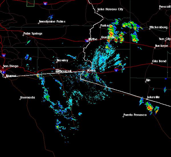 Radar Image for Severe Thunderstorms near Vicksburg, AZ at 7/5/2015 5:01 PM MST
