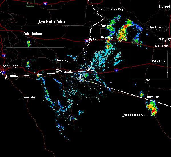 Radar Image for Severe Thunderstorms near Vicksburg, AZ at 7/5/2015 5:24 PM MST