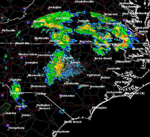 Radar Image for Severe Thunderstorms near Durham, NC at 7/5/2015 8:36 PM EDT