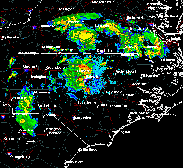 Radar Image for Severe Thunderstorms near Kittrell, NC at 7/5/2015 9:25 PM EDT
