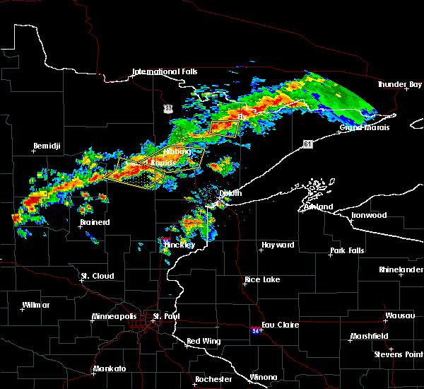 Radar Image for Severe Thunderstorms near Kinney, MN at 7/5/2015 8:46 PM CDT