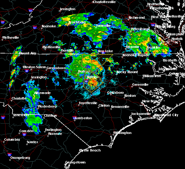Radar Image for Severe Thunderstorms near Kittrell, NC at 7/5/2015 9:57 PM EDT