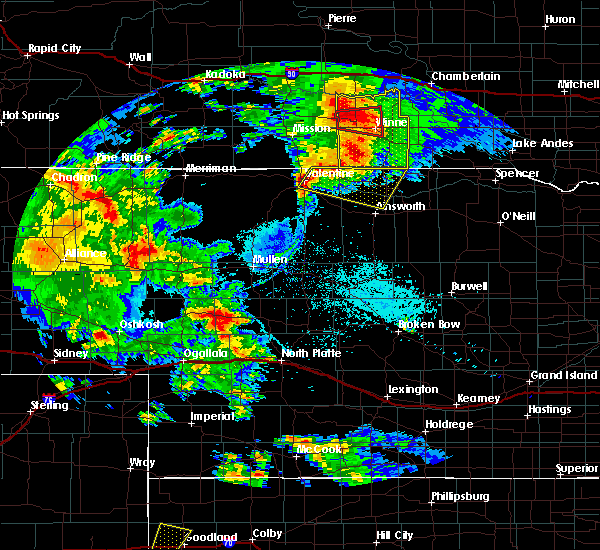Radar Image for Severe Thunderstorms near Reliance, SD at 7/5/2015 9:15 PM CDT