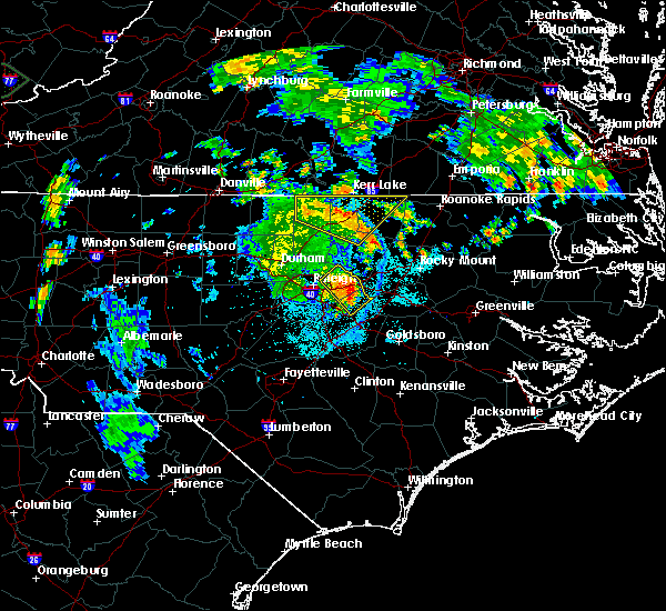 Radar Image for Severe Thunderstorms near Momeyer, NC at 7/5/2015 10:29 PM EDT
