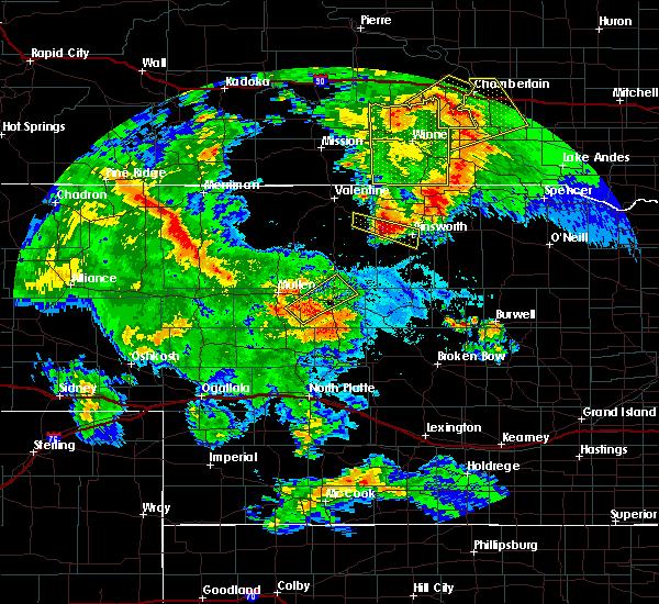 Radar Image for Severe Thunderstorms near Halsey, NE at 7/5/2015 9:59 PM CDT