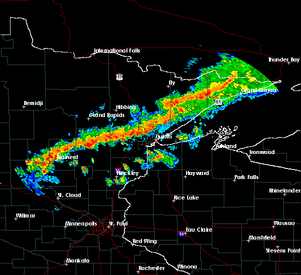 Radar Image for Severe Thunderstorms near Duluth, MN at 7/5/2015 10:00 PM CDT