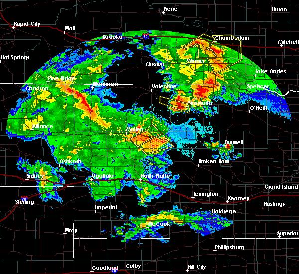 Radar Image for Severe Thunderstorms near Halsey, NE at 7/5/2015 10:08 PM CDT