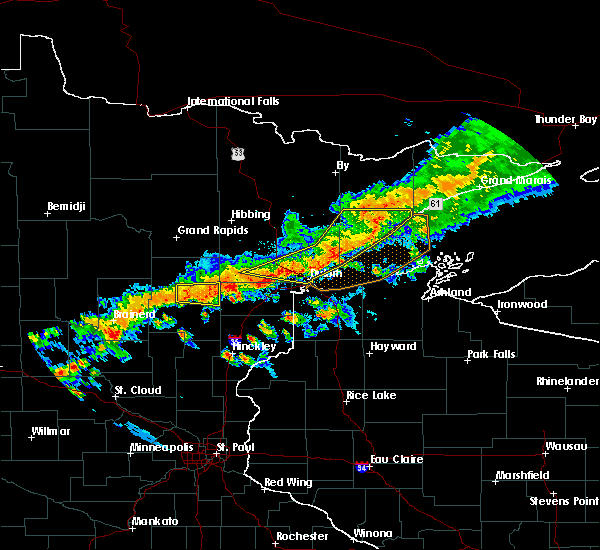 Radar Image for Severe Thunderstorms near Duluth, MN at 7/5/2015 10:21 PM CDT