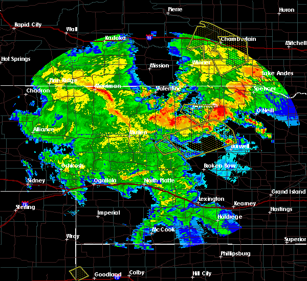 Radar Image for Severe Thunderstorms near Ainsworth, NE at 7/5/2015 10:57 PM CDT