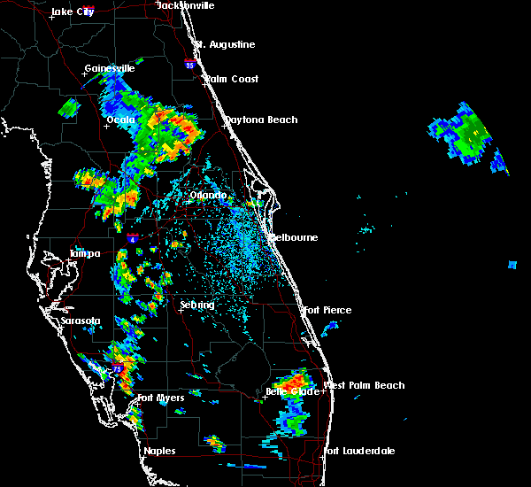 Radar Image for Severe Thunderstorms near Pierson, FL at 7/6/2015 4:21 PM EDT