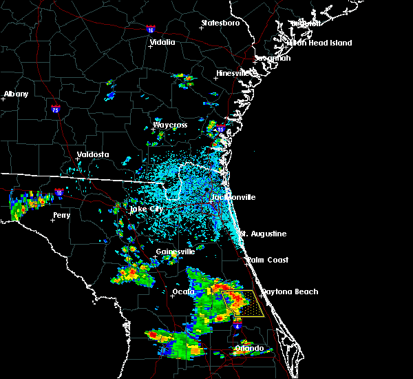 Radar Image for Severe Thunderstorms near Ormond Beach, FL at 7/6/2015 4:40 PM EDT