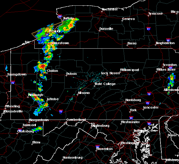 Radar Image for Severe Thunderstorms near Marienville, PA at 7/7/2015 4:27 PM EDT