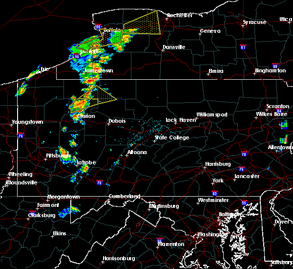 Radar Image for Severe Thunderstorms near Clarendon, PA at 7/7/2015 4:40 PM EDT