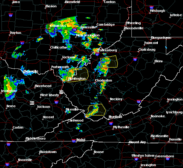 Radar Image for Severe Thunderstorms near Huntington, WV at 7/7/2015 5:04 PM EDT