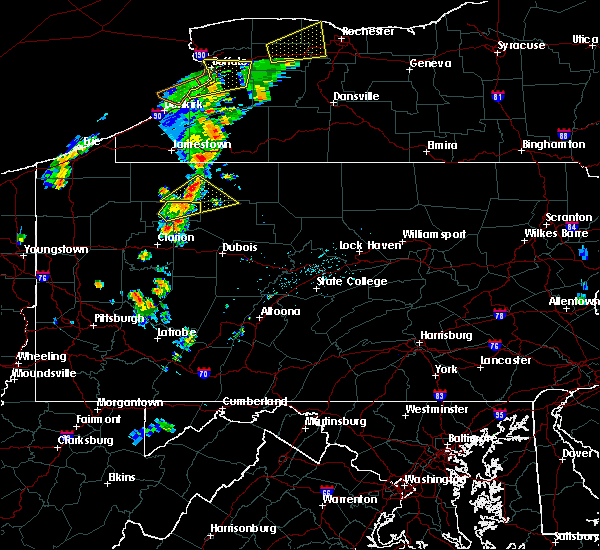 Radar Image for Severe Thunderstorms near James City, PA at 7/7/2015 5:07 PM EDT