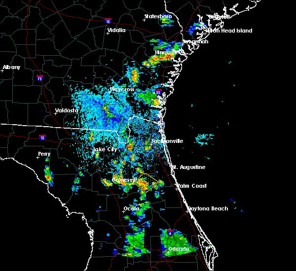 Radar Image for Severe Thunderstorms near Palatka, FL at 7/7/2015 5:30 PM EDT