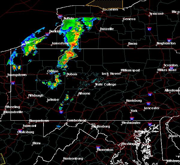 Radar Image for Severe Thunderstorms near Kane, PA at 7/7/2015 5:34 PM EDT