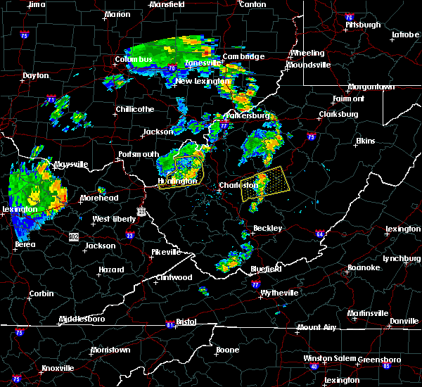 Radar Image for Severe Thunderstorms near Huntington, WV at 7/7/2015 5:44 PM EDT