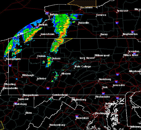 Radar Image for Severe Thunderstorms near Mount Jewett, PA at 7/7/2015 5:58 PM EDT