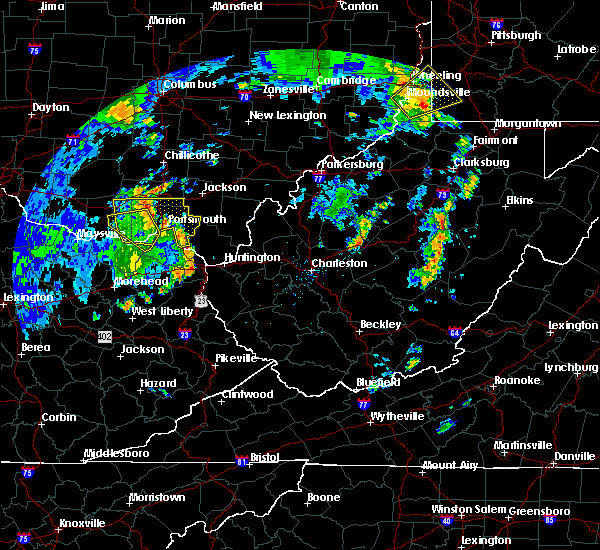 Radar Image for Severe Thunderstorms near Otway, OH at 7/7/2015 6:49 PM EDT