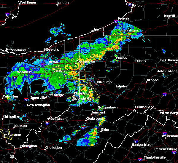 Radar Image for Severe Thunderstorms near Bradford Woods, PA at 7/7/2015 7:33 PM EDT