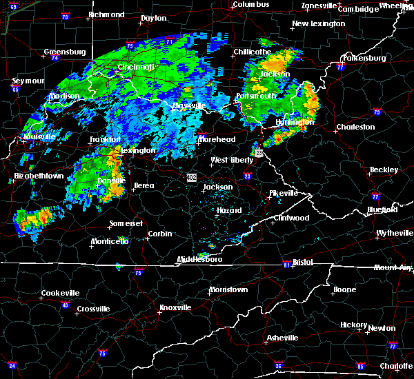 Radar Image for Severe Thunderstorms near Richmond, KY at 7/7/2015 7:52 PM EDT