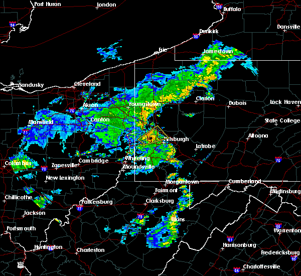 Radar Image for Severe Thunderstorms near Bradford Woods, PA at 7/7/2015 7:52 PM EDT