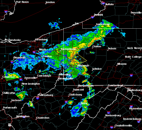 Radar Image for Severe Thunderstorms near Youngstown, PA at 7/7/2015 8:07 PM EDT