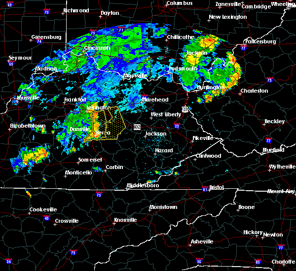 Radar Image for Severe Thunderstorms near Richmond, KY at 7/7/2015 8:10 PM EDT