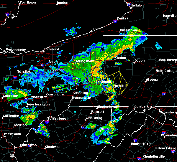 Radar Image for Severe Thunderstorms near Youngstown, PA at 7/7/2015 8:26 PM EDT