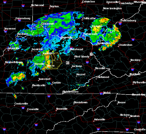 Radar Image for Severe Thunderstorms near Stanton, KY at 7/7/2015 8:29 PM EDT