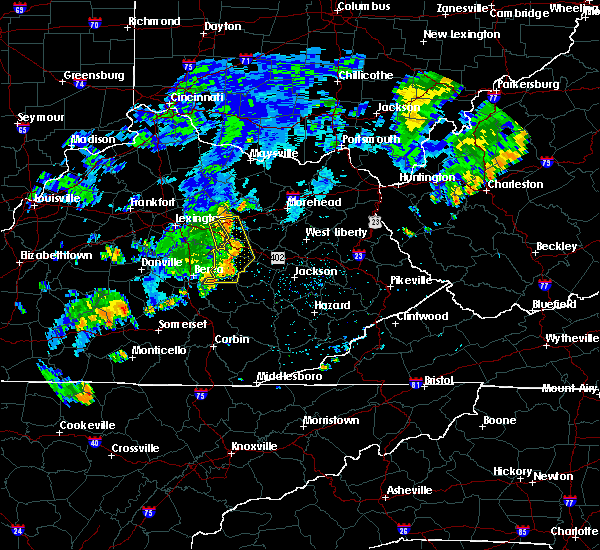 Radar Image for Severe Thunderstorms near Stanton, KY at 7/7/2015 8:43 PM EDT