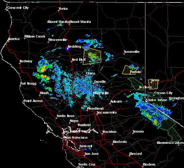 Radar Image for Severe Thunderstorms near Mineral, CA at 7/8/2015 2:37 PM PDT