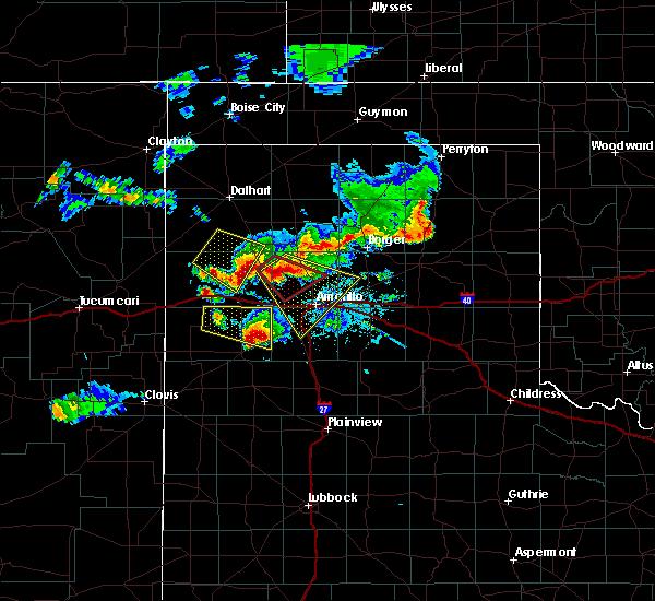 Radar Image for Severe Thunderstorms near Vega, TX at 7/8/2015 8:43 PM CDT