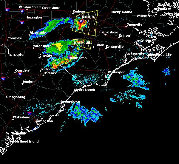 Radar Image for Severe Thunderstorms near Dillon, SC at 7/8/2015 9:45 PM EDT