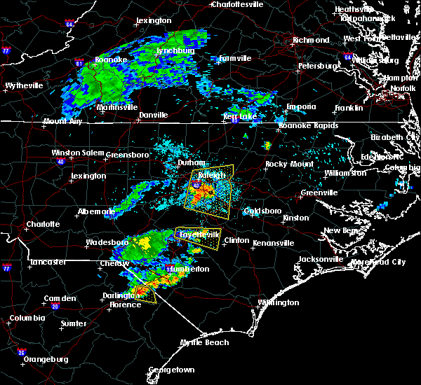 Radar Image for Severe Thunderstorms near Godwin, NC at 7/8/2015 9:53 PM EDT