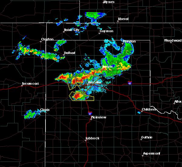 Radar Image for Severe Thunderstorms near Vega, TX at 7/8/2015 9:52 PM CDT