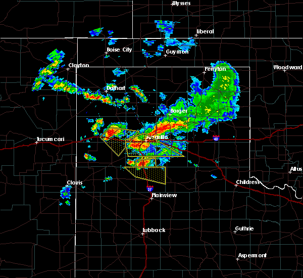 Radar Image for Severe Thunderstorms near Happy, TX at 7/8/2015 9:58 PM CDT