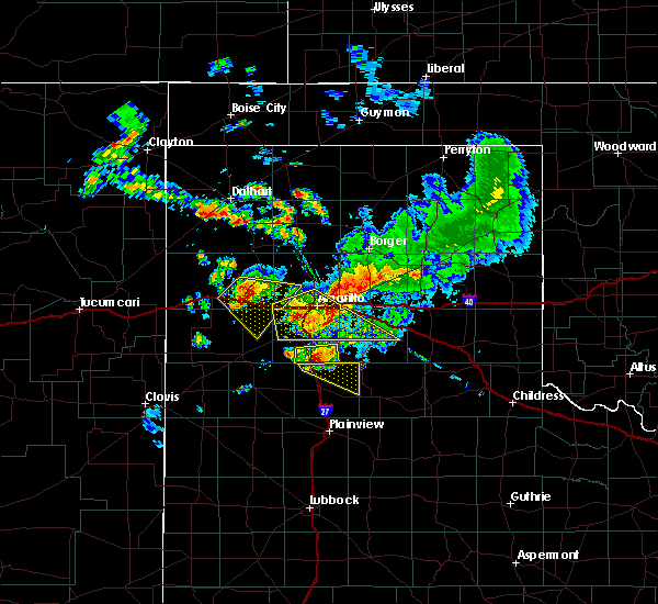 Radar Image for Severe Thunderstorms near Happy, TX at 7/8/2015 10:07 PM CDT
