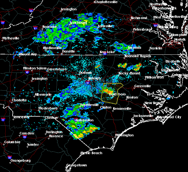 Radar Image for Severe Thunderstorms near Elroy, NC at 7/8/2015 11:10 PM EDT