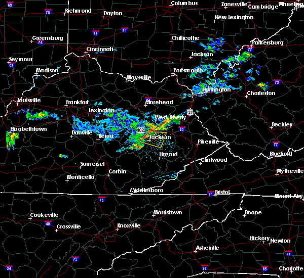 Radar Image for Severe Thunderstorms near Jackson, KY at 7/9/2015 12:41 PM EDT