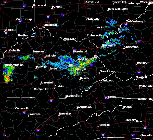 Radar Image for Severe Thunderstorms near Jackson, KY at 7/9/2015 12:55 PM EDT