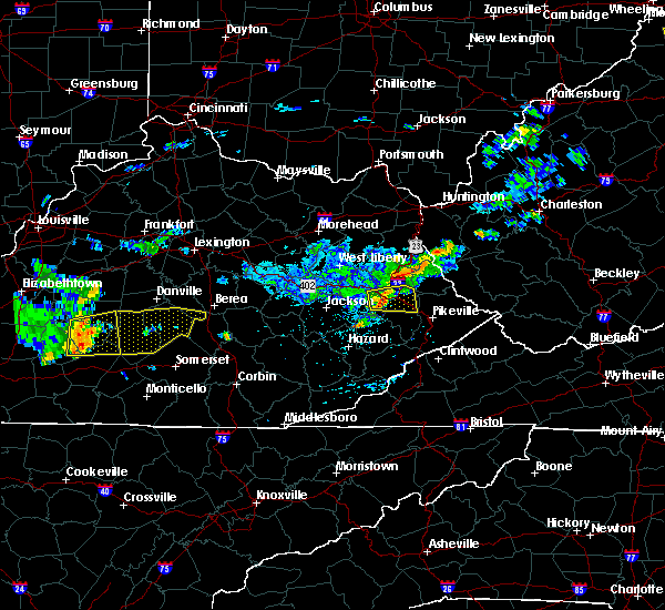 Radar Image for Severe Thunderstorms near Eubank, KY at 7/9/2015 1:15 PM EDT