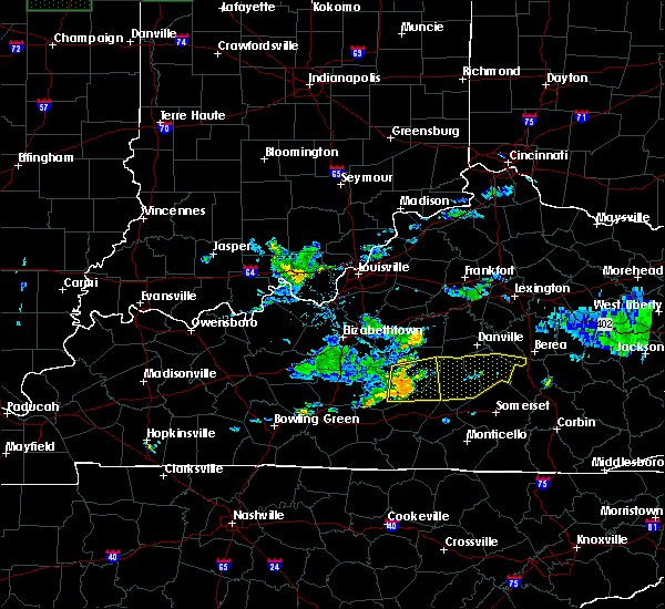 Radar Image for Severe Thunderstorms near Campbellsville, KY at 7/9/2015 1:16 PM EDT