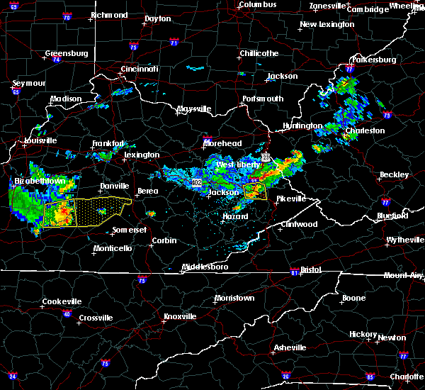 Radar Image for Severe Thunderstorms near Warfield, KY at 7/9/2015 1:28 PM EDT