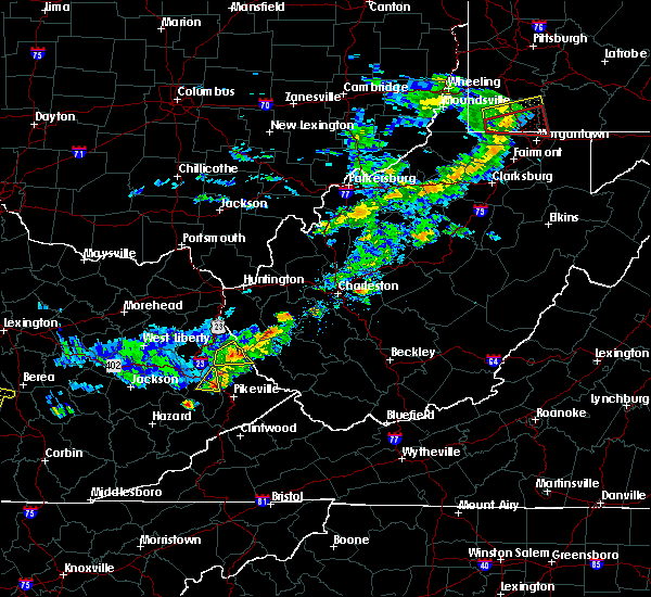 Radar Image for Severe Thunderstorms near Warfield, KY at 7/9/2015 1:39 PM EDT