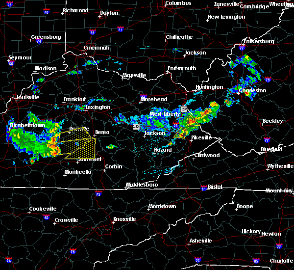 Radar Image for Severe Thunderstorms near Eubank, KY at 7/9/2015 1:44 PM EDT