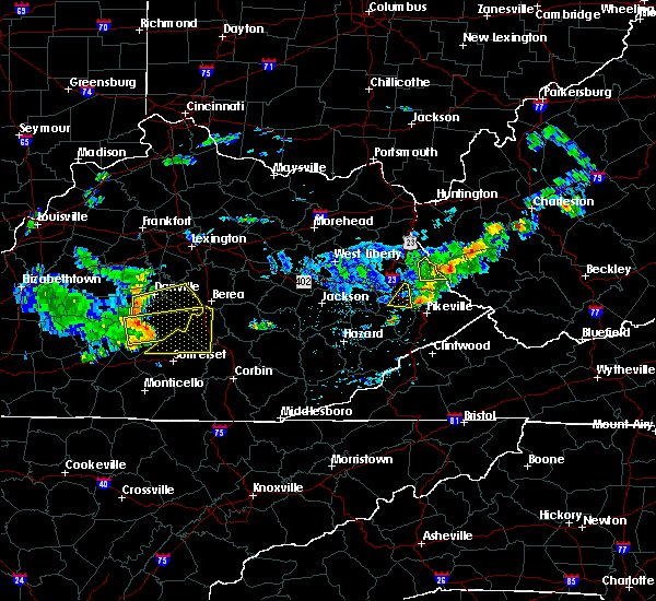 Radar Image for Severe Thunderstorms near Danville, KY at 7/9/2015 1:46 PM EDT